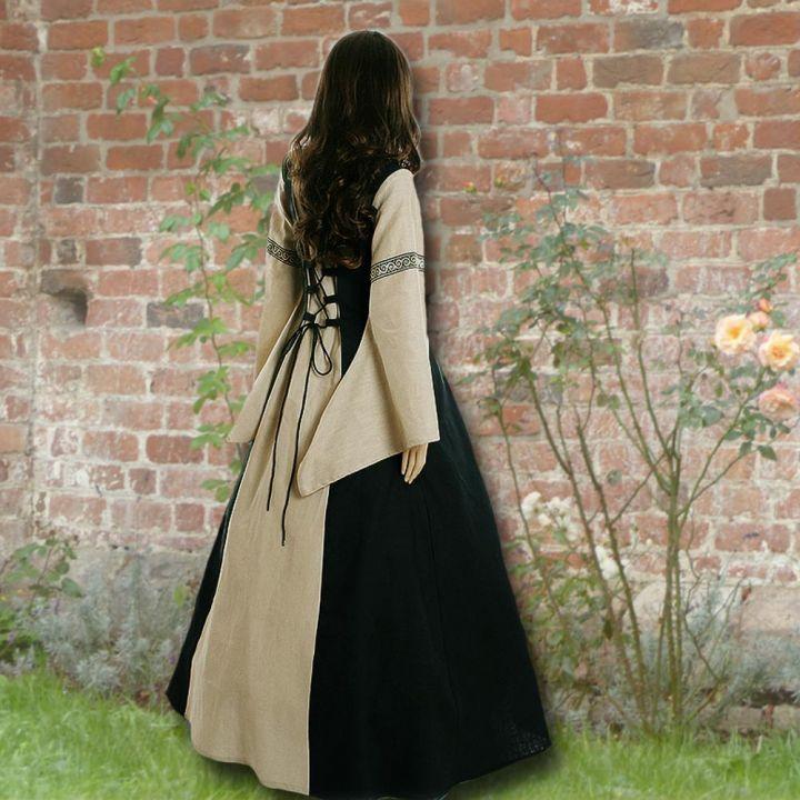 Kleid Elisabeth schwarz-sand 2