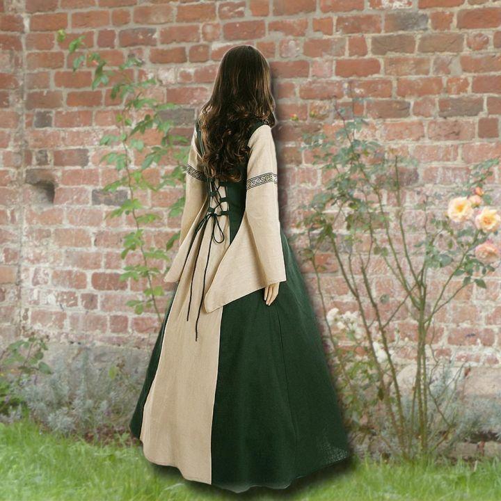 Kleid Elisabeth waldgrün-sand 2