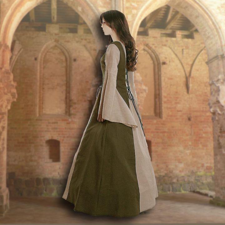 Kleid Fabienne oliv-sand 2
