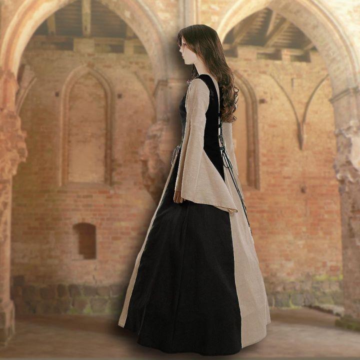 Kleid Fabienne schwarz-sand 2
