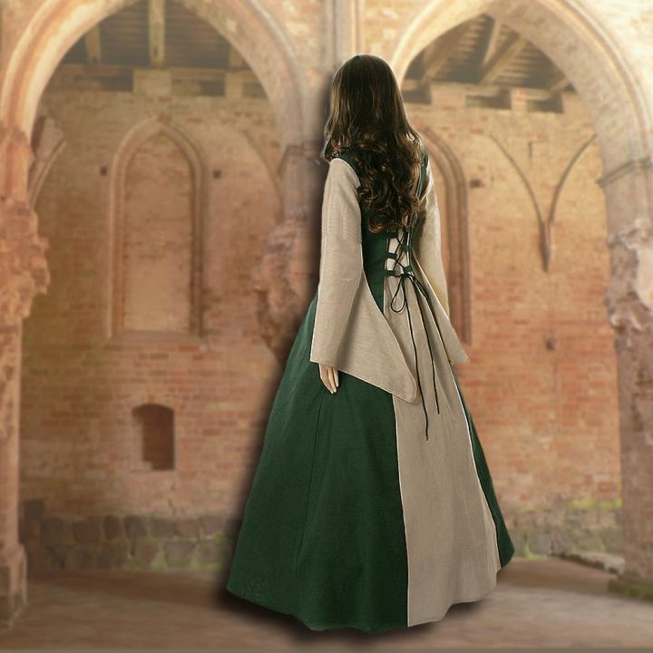 Kleid Fabienne grün-sand 2