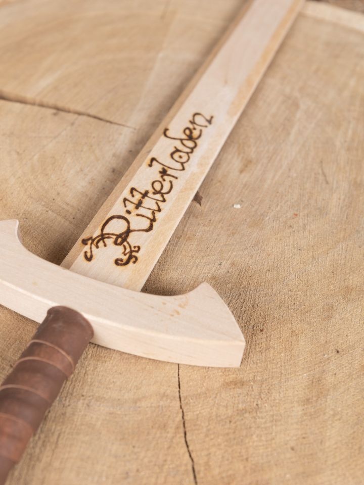 Holzschwert Tempelritter mit individueller Gravur 2