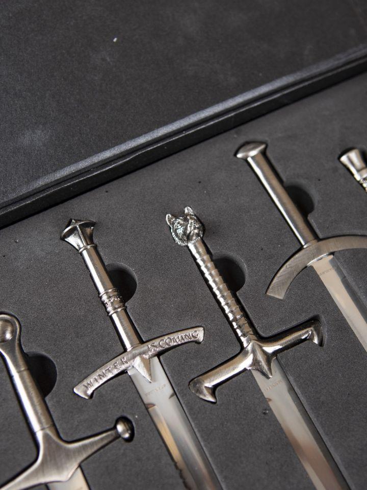 Brieföffner-Set GoT Miniaturschwerter 2