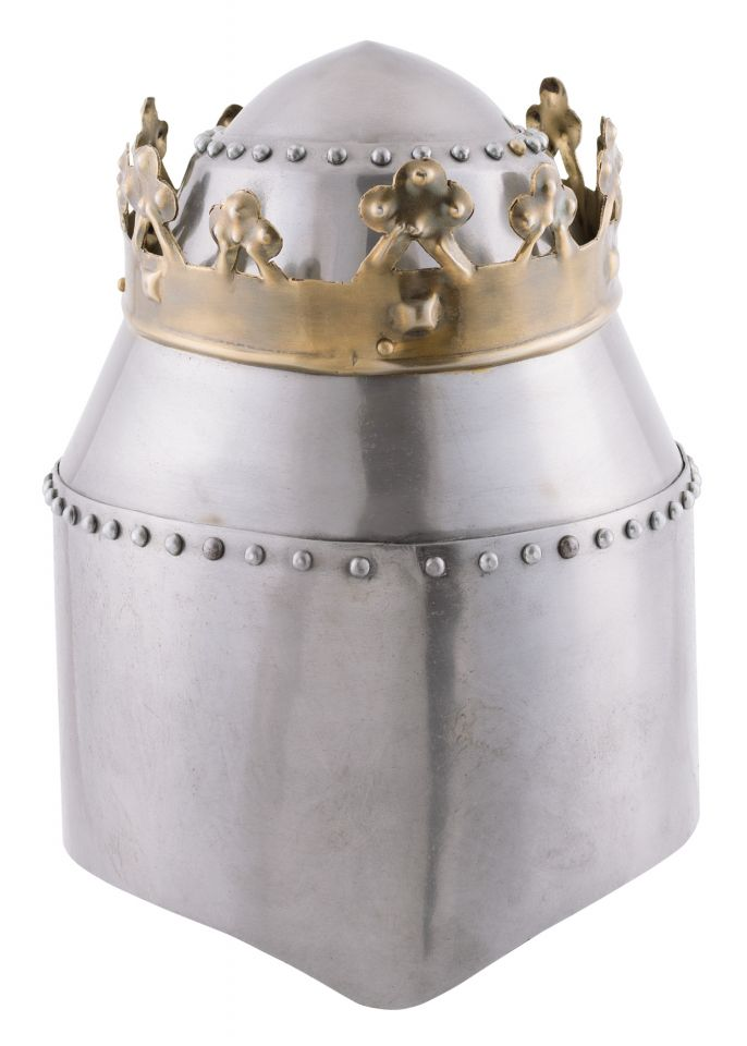 Grosser Königlicher Topfhelm mit Krone 2