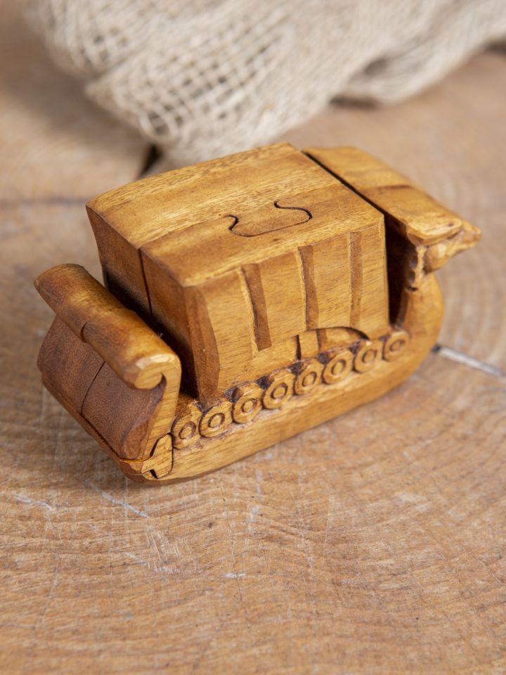 Holzdose Wikingerschiff 2