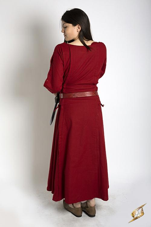 Kleid mit Schnürung rot 2