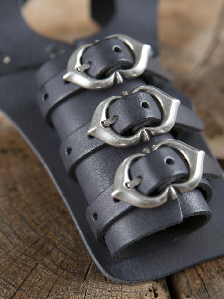 Schwerthalter mit 3 Schnallen schwarz 2