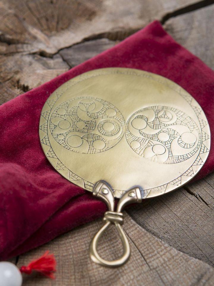 Keltischer Spiegel aus Messing klein 2