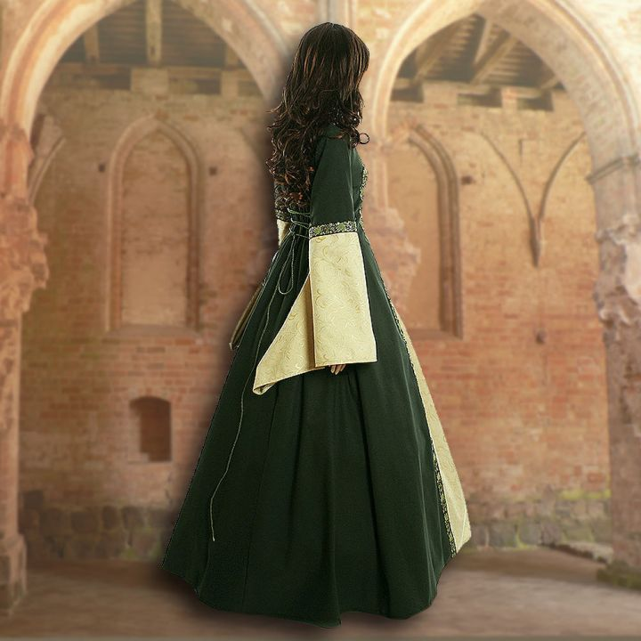 Kleid Iris grün-schilf 2