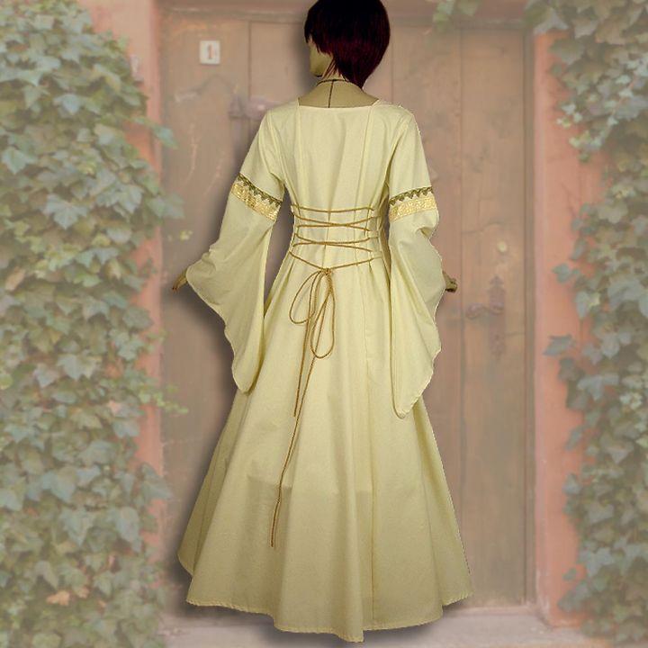 Kleid Iris gelb-weiß 2