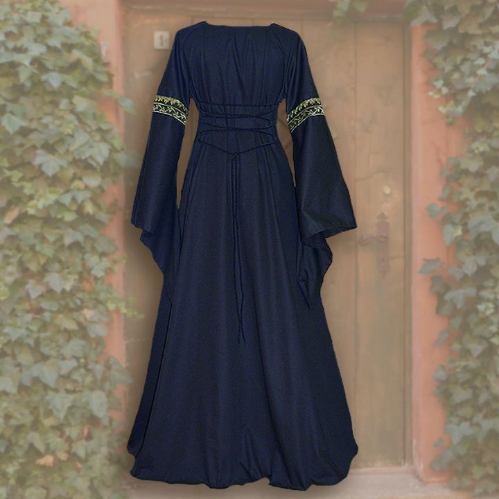 Kleid Iris blau-weiß 2