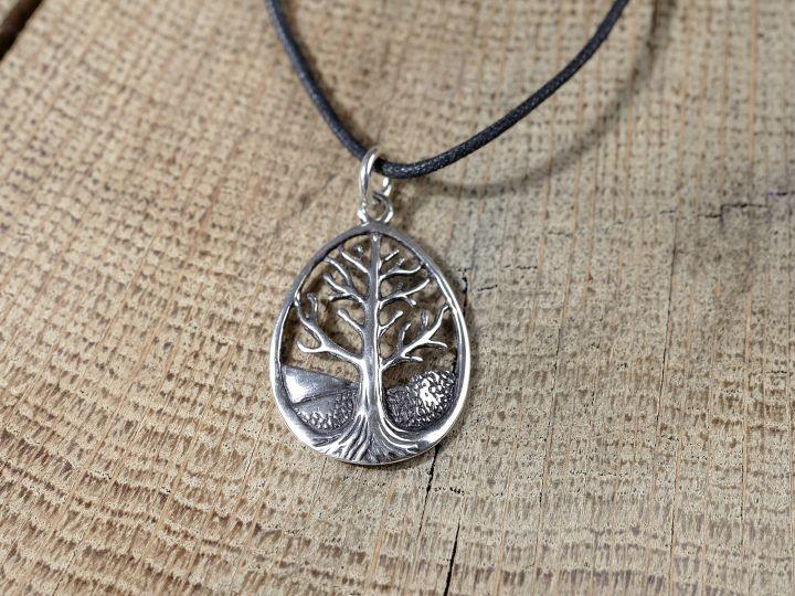 Silberanhänger keltischer Lebensbaum 2