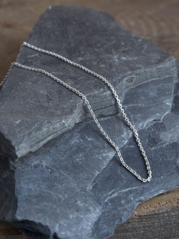 Zarte Silberkette 50 cm 2