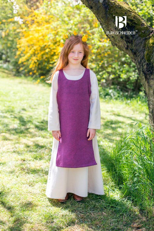 Kinderüberkleid Ylva flieder 2