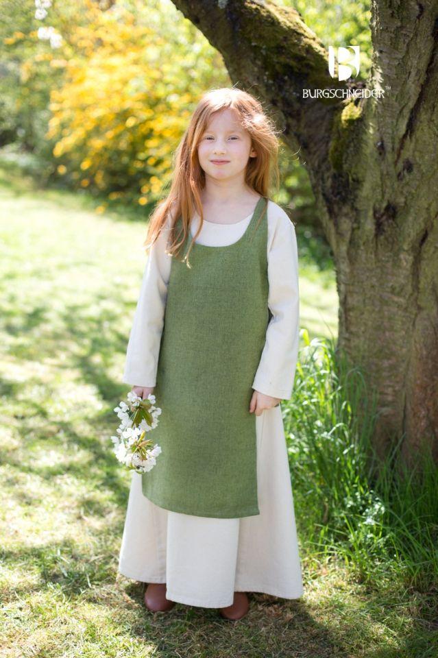 Kinderüberkleid Ylva lindgrün 2