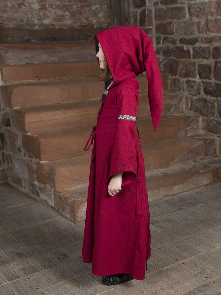 Kinderkleid Helena schwarz-rot 2