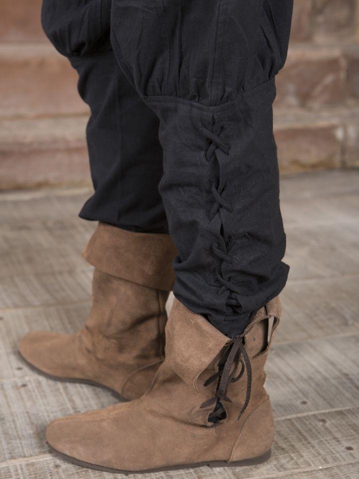 Hose mit Beinschnürung schwarz 2
