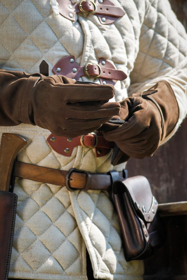 Lederhandschuhe Ulex braun 2