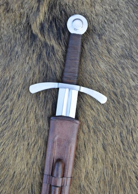 Kreuzritter Scheibenknauf-Schwert 2