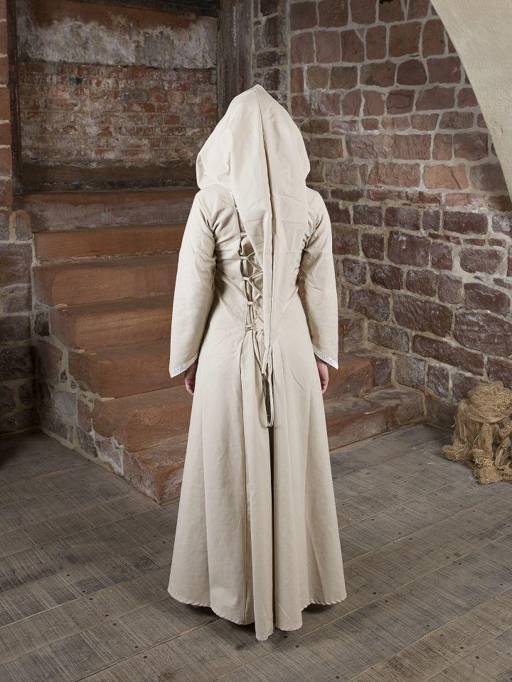 Mittelalterkleid Floriel creme-weiß 2