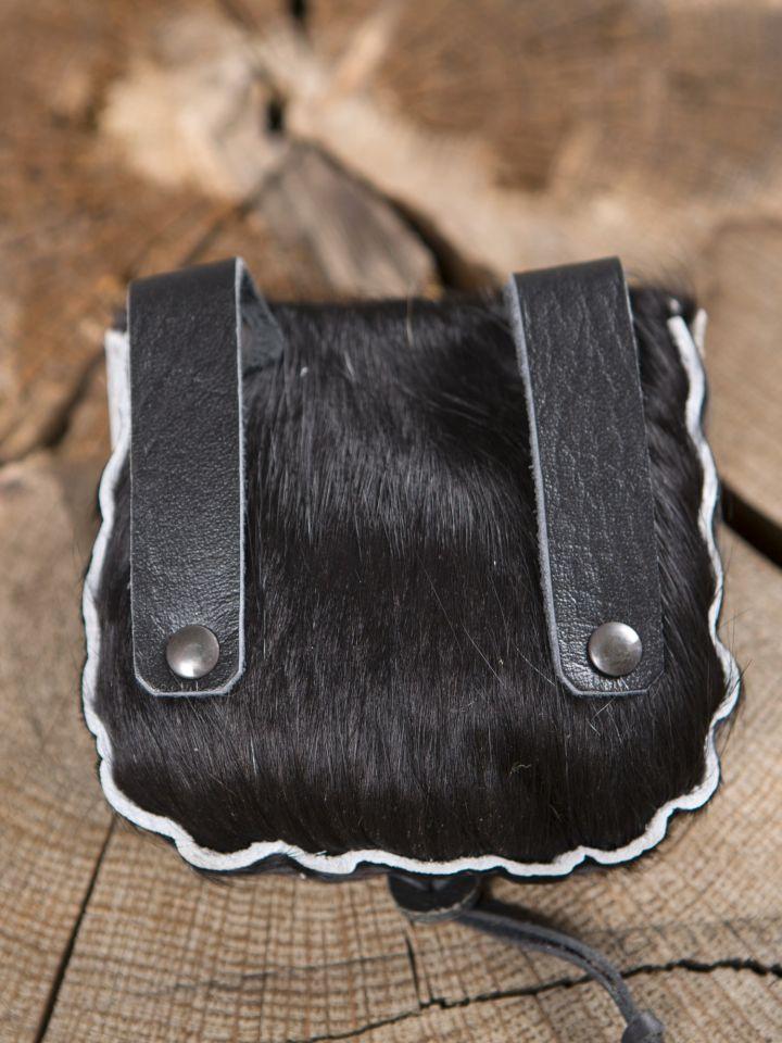 Gürteltasche aus Kuhfell schwarz 2