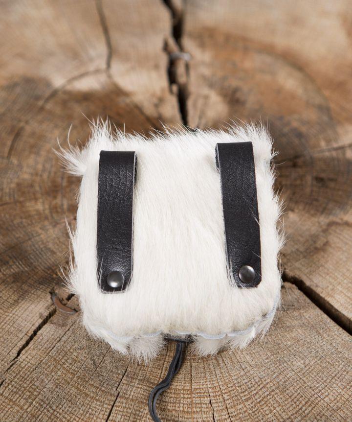 Gürteltasche aus Kuhfell weiß 2