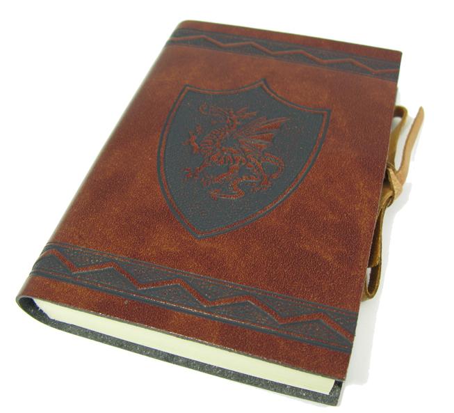 """Schreibbuch """"ScuDrago"""" im Ledereinband Mittel 12 x 17 cm 2"""