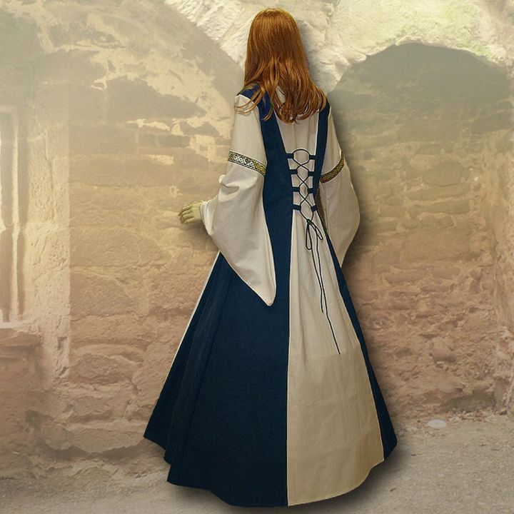 Kleid Sybille marineblau-sand 2