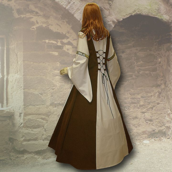 Kleid Sylvia braun-sand 2