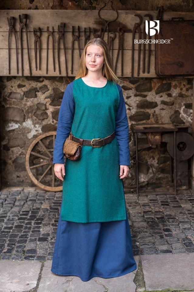 Unterkleid Freya waidblau S 2
