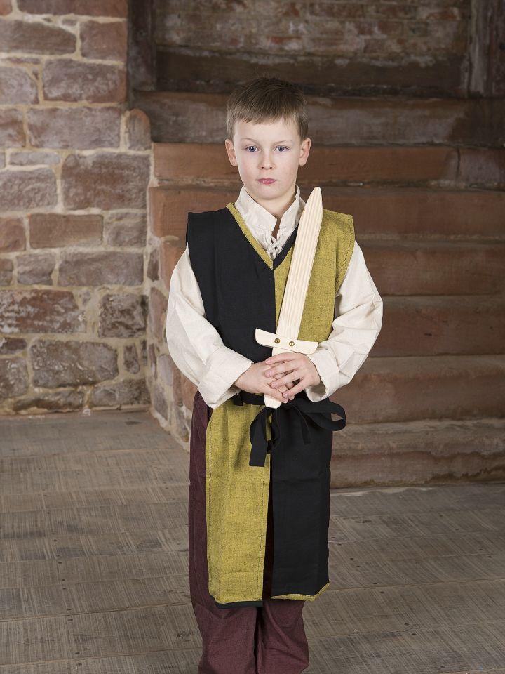 Kinder-Waffenrock mit Bindegürtel gelb-schwarz 2