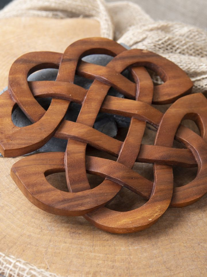 Holz-Wandschmuck Keltische Herzen 2
