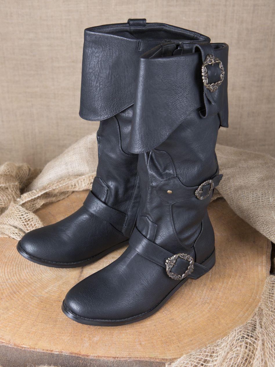 Ritterladen | Piratenstiefel schwarz | Mittelalter Shop