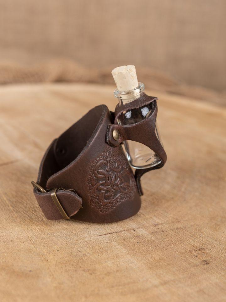 Armband mit Trankflasche braun geprägt 3