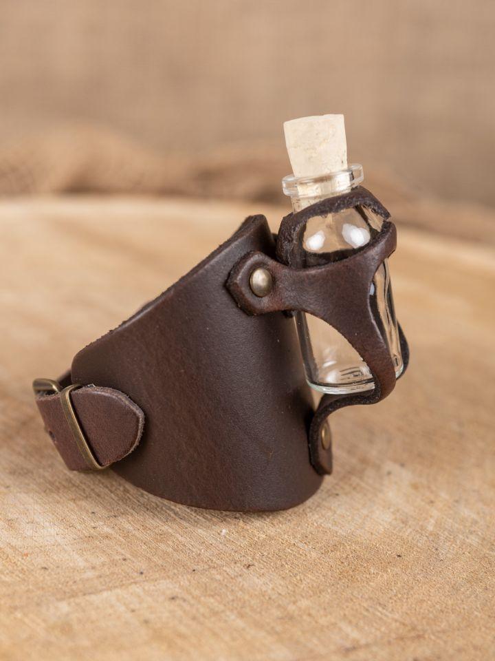 Armband mit Trankflasche braun 3