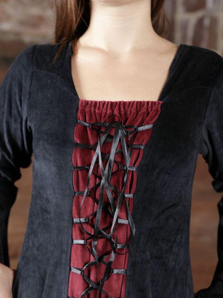 Samtkleid schwarz-rot M 3