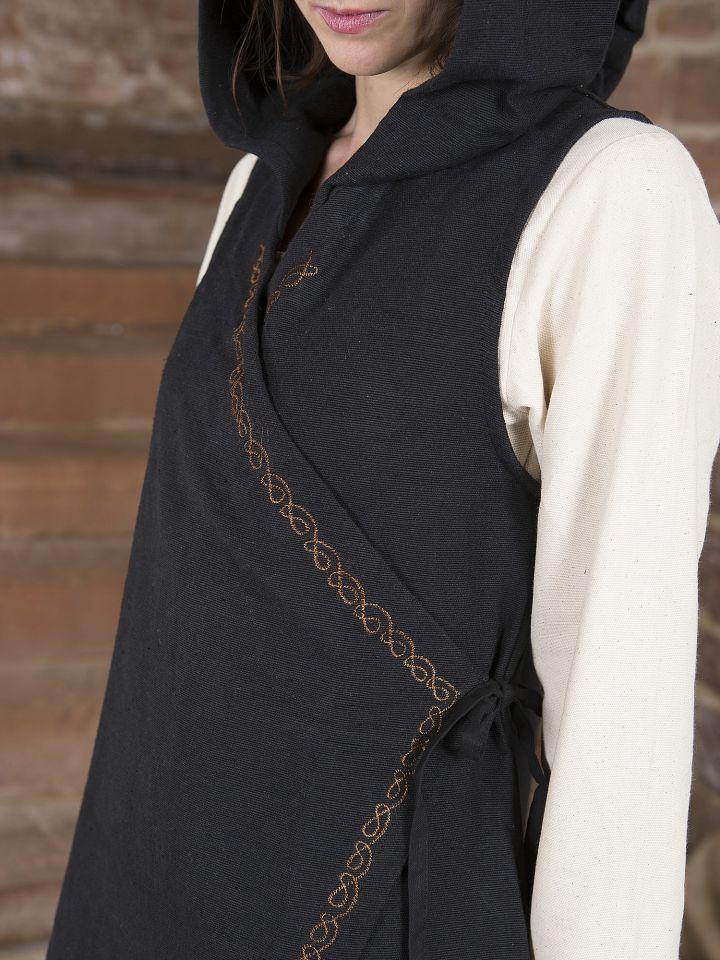 Wickelkleid Dala aus Baumwolle schwarz 3