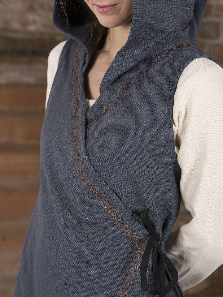 Wickelkleid Dala aus Baumwolle grau 3