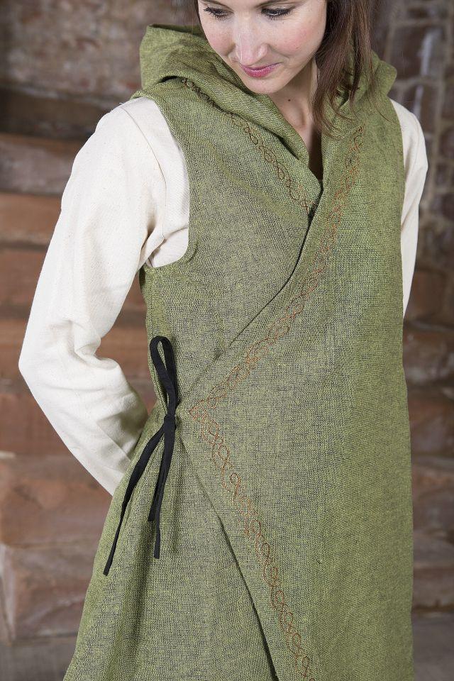 Wickelkleid Dala aus Baumwolle lindgrün 3