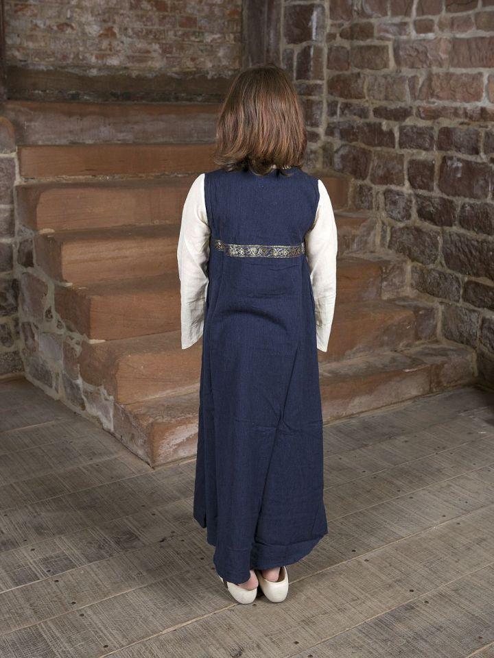 """Kinderkleid """"Piccolina"""" blau-natur 128/134 3"""