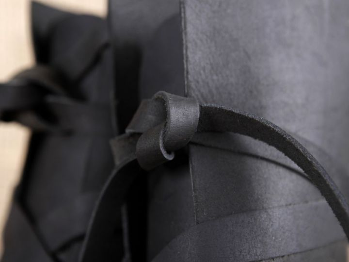 Wikingerstiefel mit Ledersohle schwarz 48 3