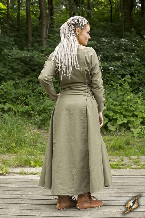 Kleid mit Schnürung grün S 3