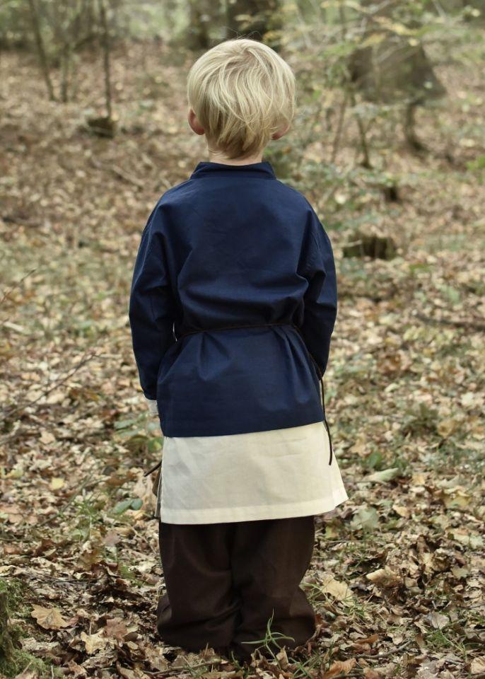 Kinder Mittelalterhemd blau 110 3