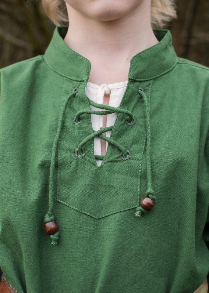 Kinder Mittelalterhemd grün 3