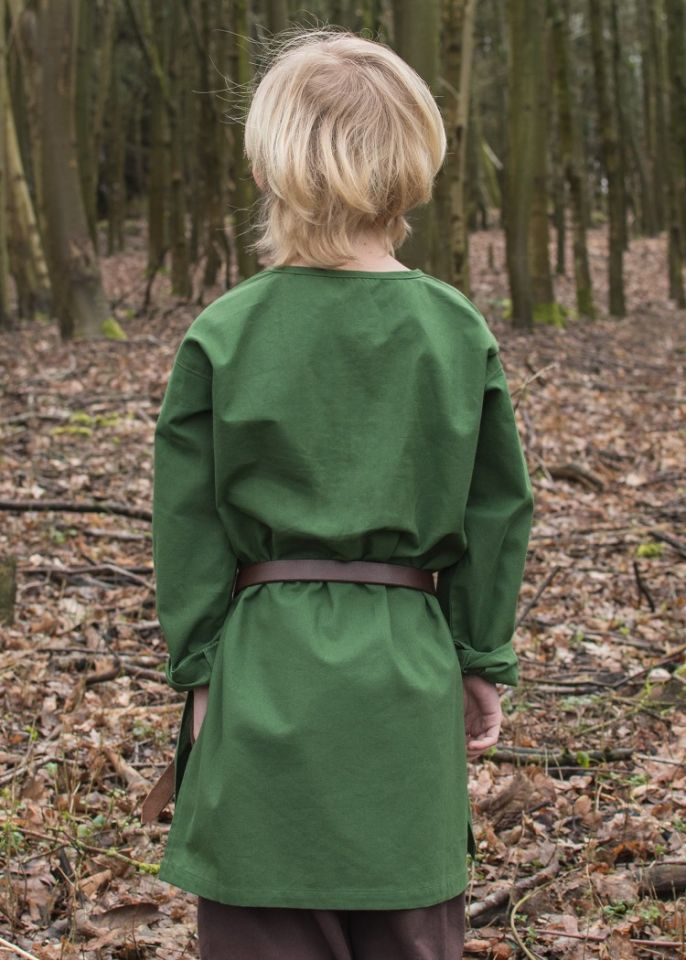 Mittelaltertunika für Kinder grün 3