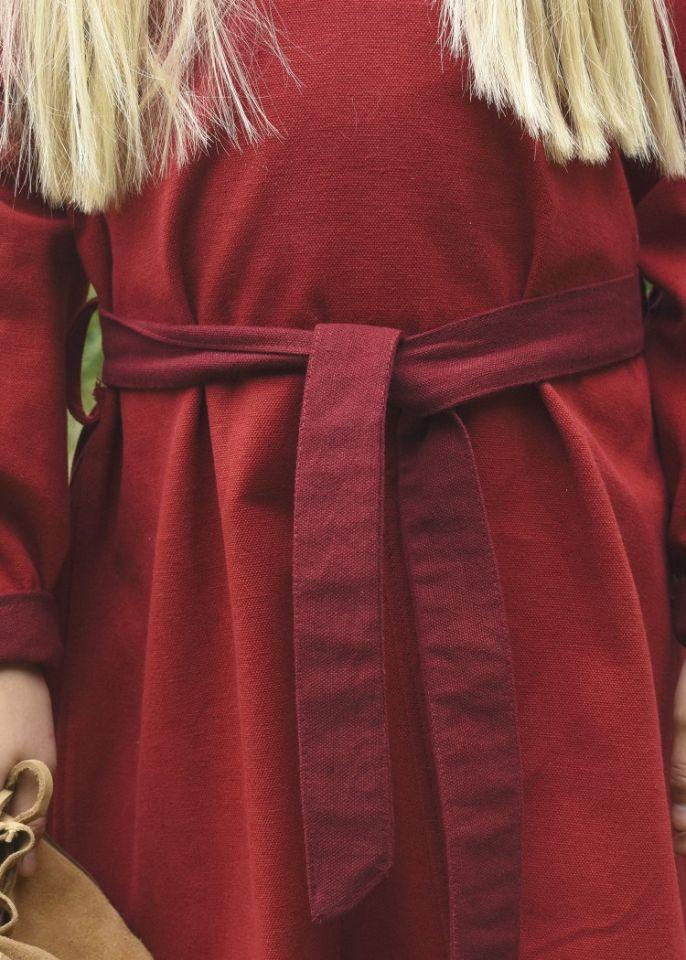 Wikingerkleid für Kinder rot/weinrot 3