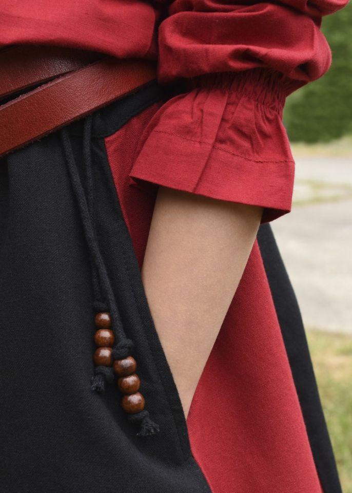 Mädchenrock für Mittelalter rot-schwarz 3