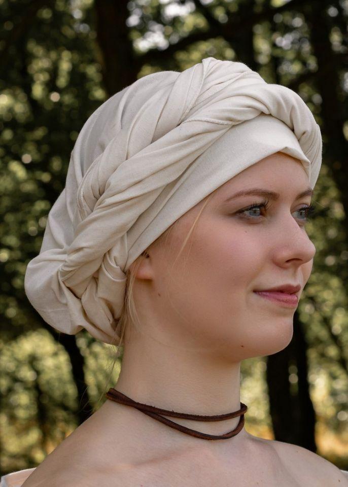 Mittelalter Kopftuch natur 3