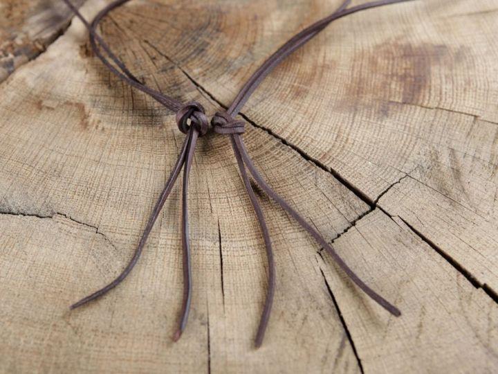Lederriemen,  1 Meter rund oder rechteckig  | natur - rund 3