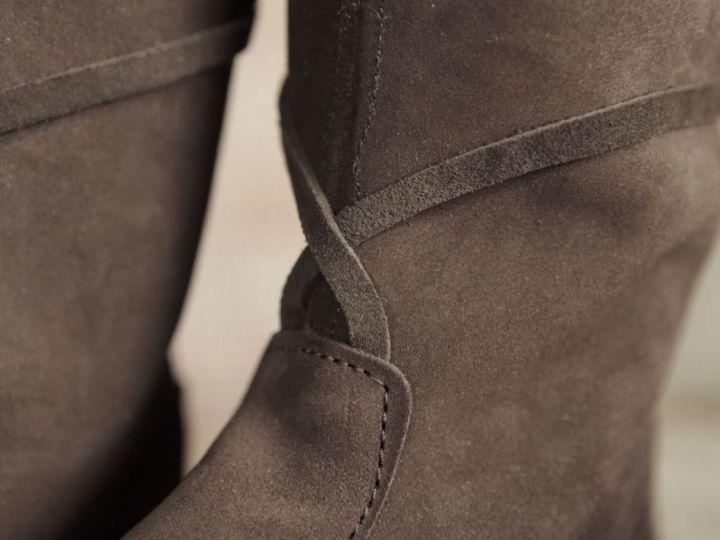 Hohe Stiefel aus Wildleder braun 45 3